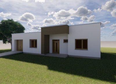 Ponúkame na predaj NOVOSTAVBU : Rodinné domy IVB Nové Rišňovce časť SALAŠE . 4 izbový - Bungalov