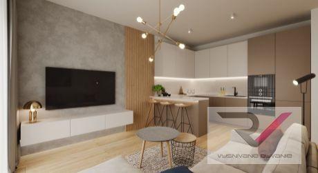 Na predaj dizajnovo zariadený 2 izbový byt v novostavbe so záhradou 30m2