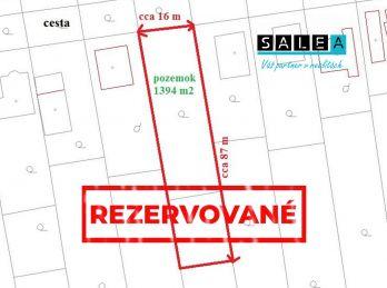 EXKLUZÍVNE - Stavebný pozemok Kechnec, Košice- okolie, 1394 m2