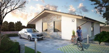 NOVOSTAVBA bungalovu v SELCI - projekt MAXIM dom č. 1