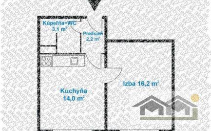 V tichej časti pri rieke predám veľký 1 izb byt