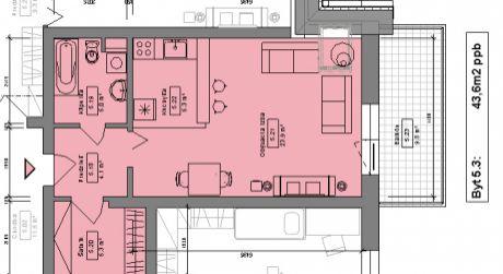 Kuchárek-real: Novostavba 1-izbového bytu v Pezinku na Muškáte D6-502.