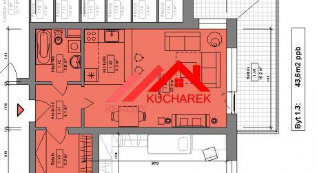 Kuchárek-real: Novostavba 1-izbového bytu v Pezinku na Muškáte-1podlažie D6-101