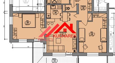 Kuchárek-real: Ponuka 3 izbového bytu v novostavbe Pezinok- Muškát.D6-102.
