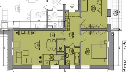 Kuchárek-real: Ponuka 3 izbového bytu v novostavbe Pezinok- Muškát.D6-501