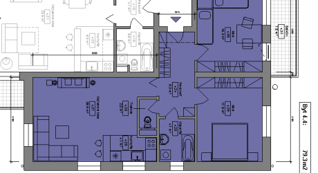 Kuchárek-real: Ponuka 3 izbového bytu v novostavbe Pezinok- Muškát.D6-401.
