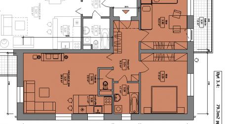Kuchárek-real: Ponuka 3 izbového bytu v novostavbe Pezinok- Muškát.D6-301