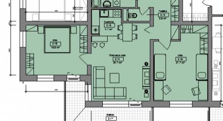 Kuchárek-real: Ponuka 3 izbového bytu v novostavbe Pezinok- Muškát.D6-203