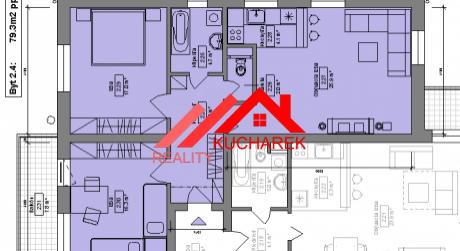 Kuchárek-real: Ponuka 3 izbového bytu v novostavbe Pezinok- Muškát.D6-201