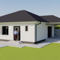 Rodinný dom, Andovce, 83 m², Projekt