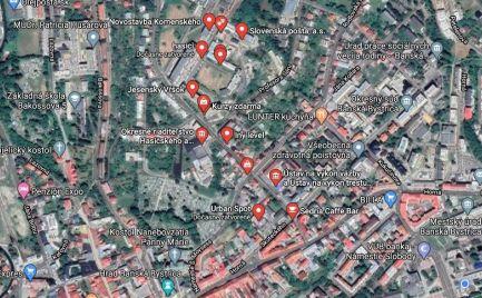 Predaj – Administratívna budova - objekt s pozemkom 830 m2, B. Bystrica – širšie centrum!! - Investícia!! -  cena  880 000€