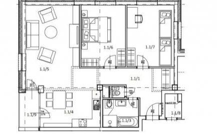 Veľký tehlový byt 3+kk, 90 m2, s lodžiou, B. Bystrica, novostavba  - cena 167 000€