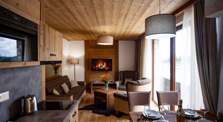 Luxusný apartmán s vlastnou terasou a vírivkou v Jasnej pod Chopkom - VIDEOPREHLIADKA