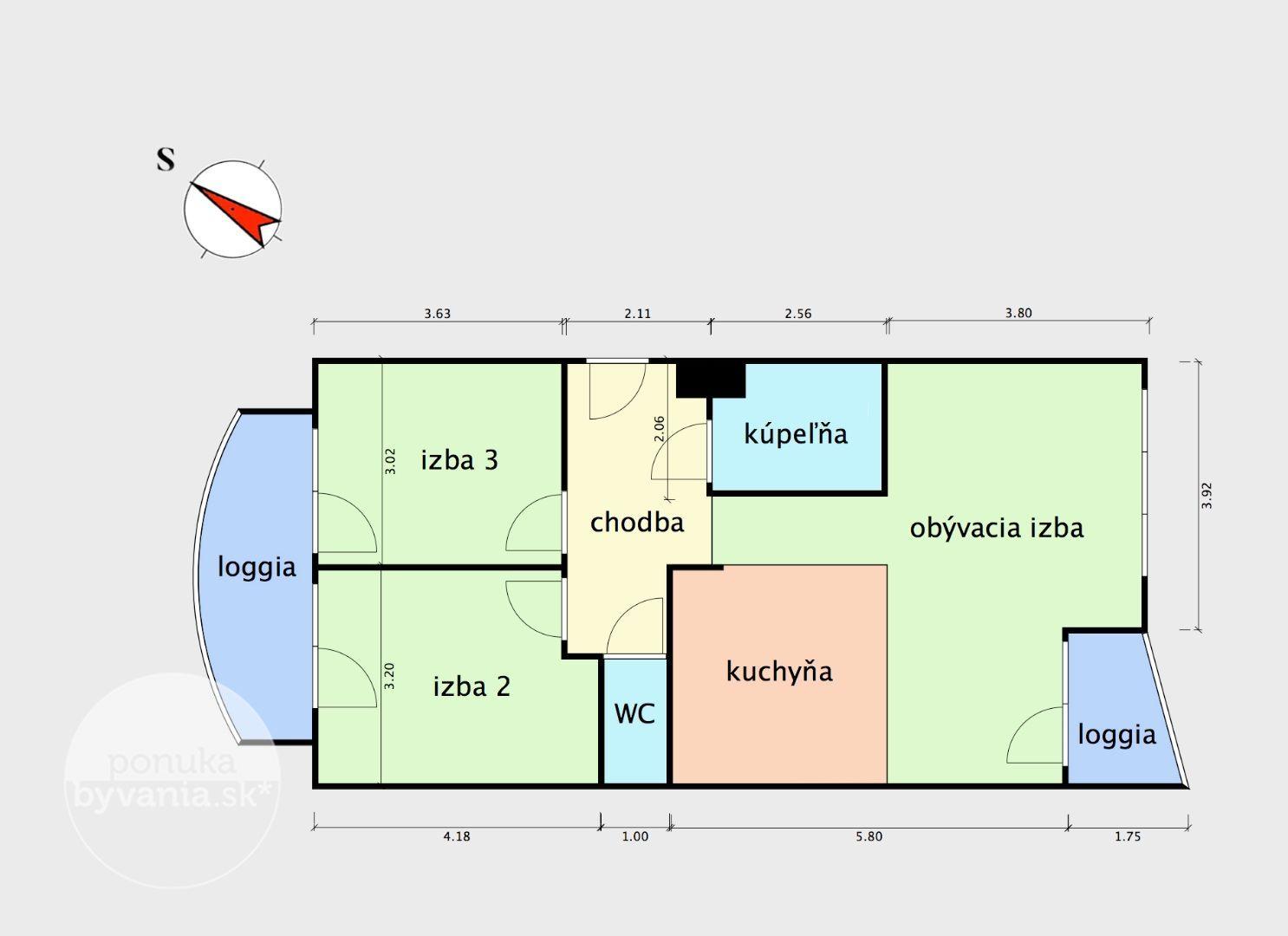 ponukabyvania.sk_Agátová_3-izbový-byt_KOVÁČ