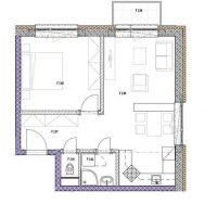 2 izbový byt, Podbrezová, 49 m², Novostavba