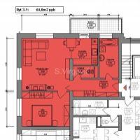 2 izbový byt, Pezinok, 64 m², Novostavba