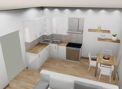 PodA : Na predaj 1 izbový byt A, v novom projekte