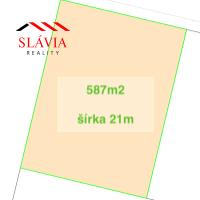 Pre rodinné domy, Motešice, 587 m²