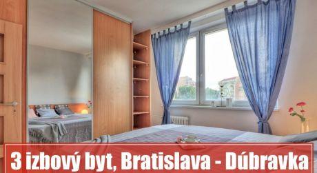 Príjemný 3 izbový byt v bratislavskej  Dúbravke poskytne pohodlný domov vašej rodine