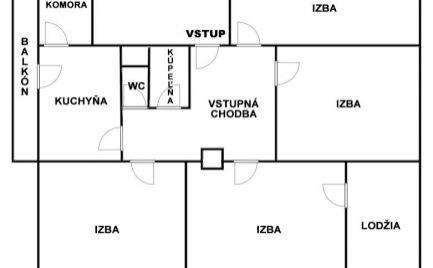 4 izbový veľkometrážny byt s balkónom a lodžiou v centre mesta