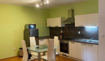 V novostavbe na Dlhých Dieloch veľký 2 izbový byt s loggiou a garážovým státim