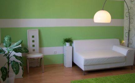 Ponúkame na prenájom priestranný a zariadený 1-izbový  byt ( 45 m2) na Miletičovej ulici v blízkoati Apollo BC, Bratislava II.-Ružinov