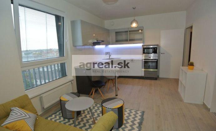 Prenájom, nový a kompletne zariadený 2-izb. byt (46 m2 + balkón 5 m2) s parkovaním, novostavba Jégého Alej  IV, ul. Jégého, BA II- Nivy