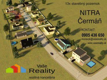 NITRA - ČERMÁŇ  STAVEBNÝ POZEMOK 670m2