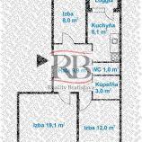 3 izbový byt s balkónom v Bratislavskej mestskej časti Vrakuňa