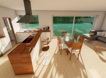 ELIMARK - PREDAJ, 4 izb. priestranný bungalov 115,4m2 s pozemkom 800m2, Veľké Úľany - Ekoosada