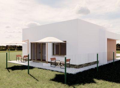 Ponúkame na predaj NOVOSTAVBU : Rodinné domy IVB Nové Rišňovce časť SALAŠE . Posledný 3 izbový - Bungalov