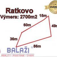 Pre bytovú výstavbu, Ratkovo, 2700 m², Pôvodný stav