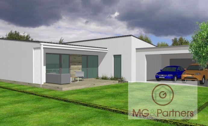 100 % AKTUÁLNY - novostavba bungalovu v tvare L- obec Veľké Kostoľany