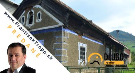 PREDANÉ: rodinný dom  s pozemkom 1912 m2, Nižný Slavkov.