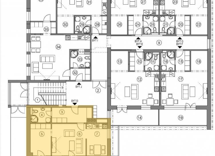 Na predaj 2 izbový byt PodD, v novom projekte