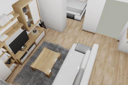 Na predaj 1 izbový byt PodE, v novom projekte