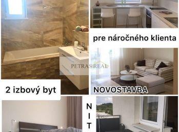Prenájom moderný - zariadený 2.izb byt v Nitre v novostavbe s balkónom