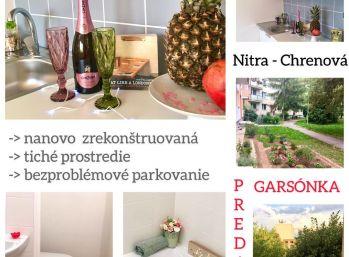 Exkluzívne predaj na novo zrekonštruovanej garzonky v Nitre na Chrenovej SUPER CENA