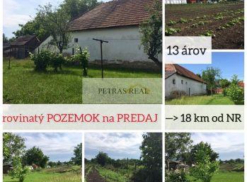 Predaj pekný - rovinatý 13 ár stavebný pozemok Vinodol pri Nitre