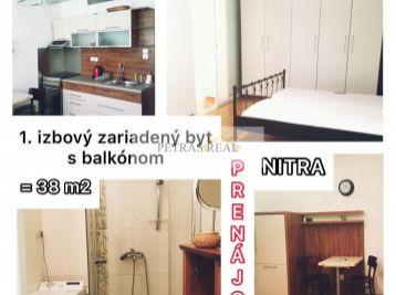 PRENAJATÝ pekný a zariadený 1.izb byt v Nitre na Petzvalovej ul