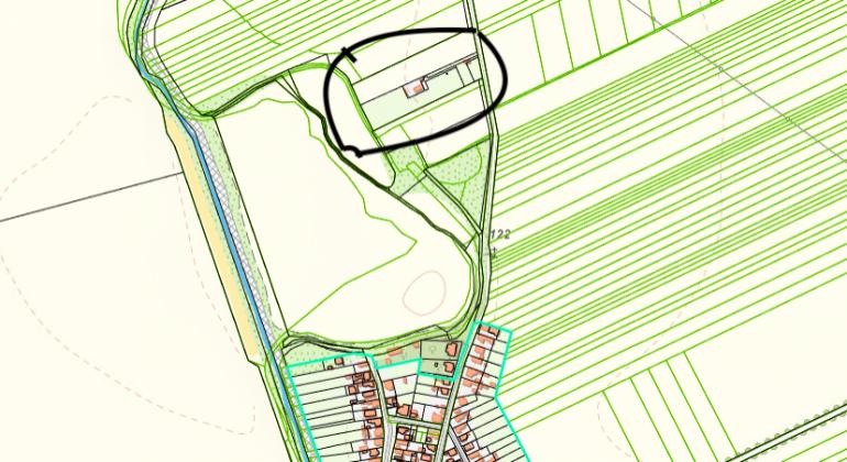 Na predaj veľký  pozemok o rozlohe 15732 m2 v obci Košúty v okrese Galanta