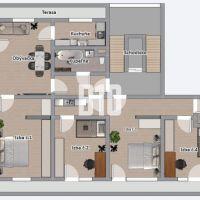 4 izbový byt, Nitra, 104 m², Čiastočná rekonštrukcia