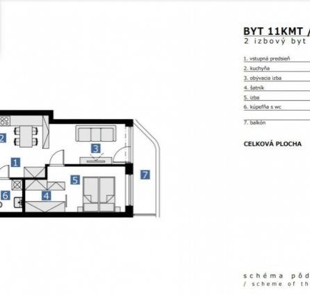 StarBrokers – PREDAJ : Novostavba 2-izb. byt 43 m2 + loggia + pivnica + parkovacie miesto na 11. p.,Údernícka ul. Bratislava - Petržalka