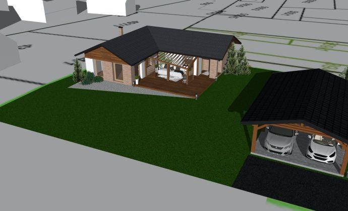 Predaj: Novostavba - bungalov na slnečnom pozemku s rozlohou 871m2 v Závadke nad Hronom