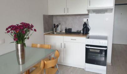 Prenájom - pekný 1 izbový byt + garážové státie v novostavbe SLNEČNICE - BA- Petržalka, Zuzany Chalupovej.