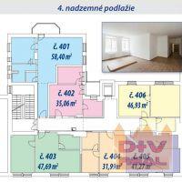 2 izbový byt, Bratislava-Staré Mesto, 58.40 m², Kompletná rekonštrukcia