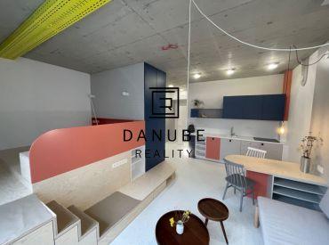 Predaj nový 1-izbový byt 40 m2, 1. poschodie s výhľadom do átria na Tomášikovej ulici KOLOSEO v Bratislave – Nové Mesto.