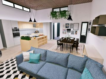 ELIMARK - PREDAJ, novostavba 4 izb RODINNÝ DOM 137,39 m2 so záhradným domčekom 12,27 m2 a prístreškom pre auto 22,02 m2, Green Residence, Hrubá Borša