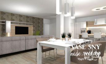 Nadštandardný 3 izbový byt s terasou v centre mesta Nové Mesto nad Váhom s garážou v novostavbe bytového domu