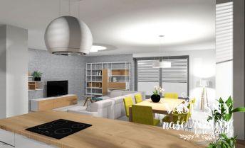 Veľkometrážny  3 izbový byt s terasou v centre mesta Nové Mesto nad Váhom s dvojgarážou v novostavbe bytového domu